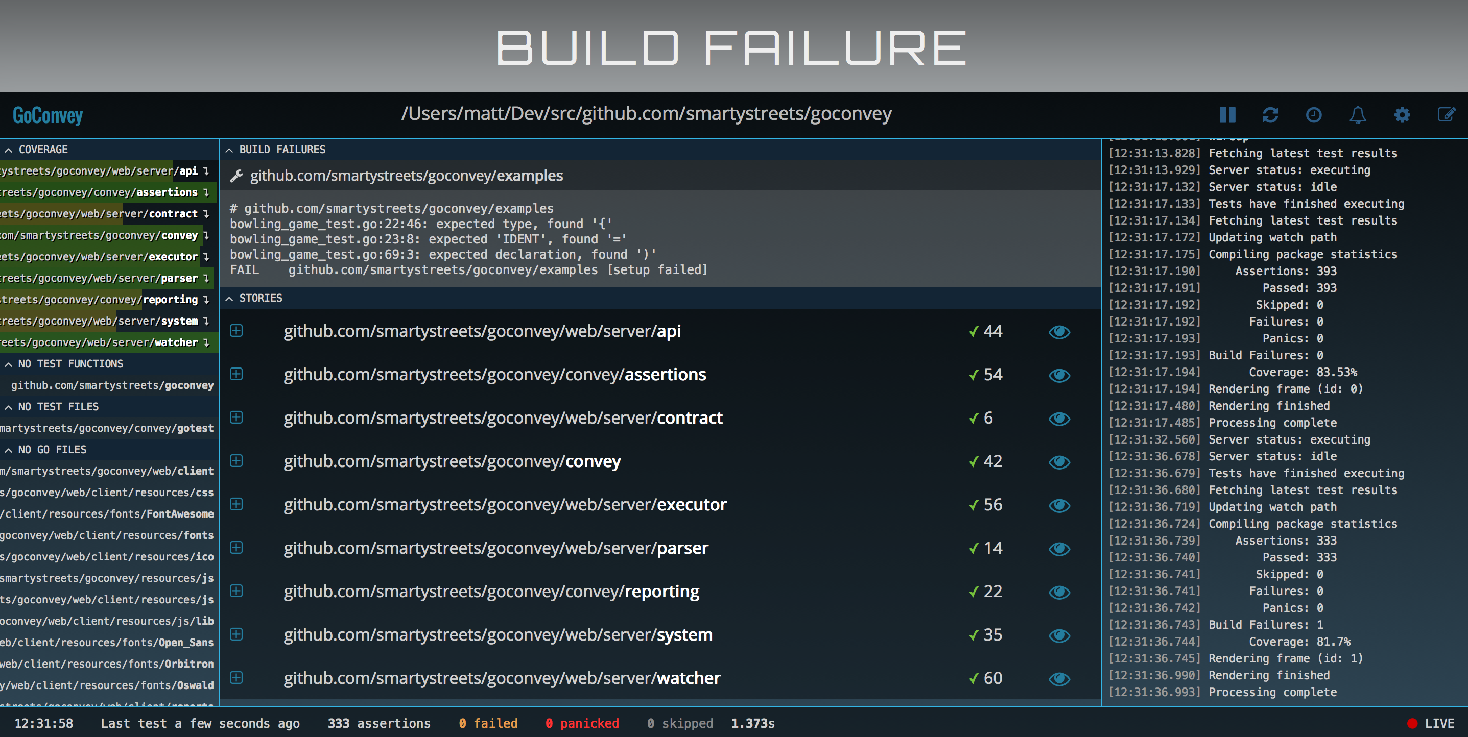 Build failure