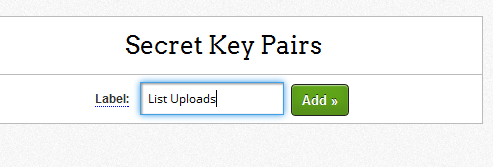 New secret key pair