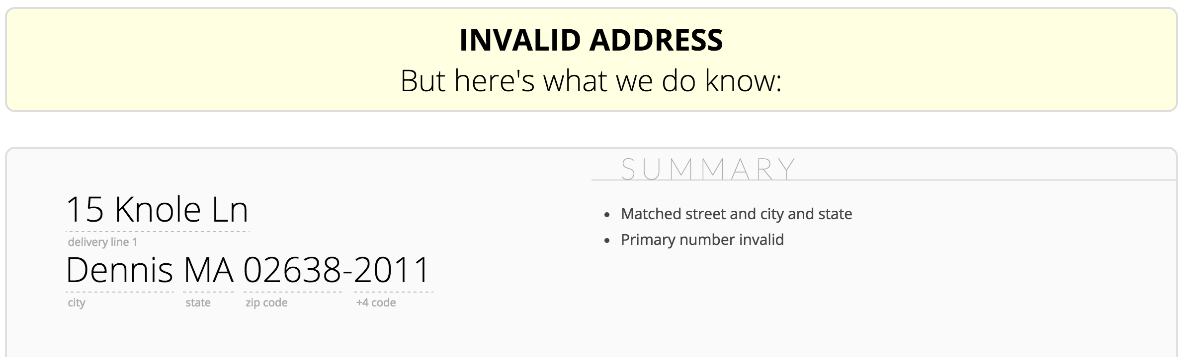 Google validates incorrect address