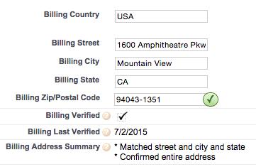 Verified address