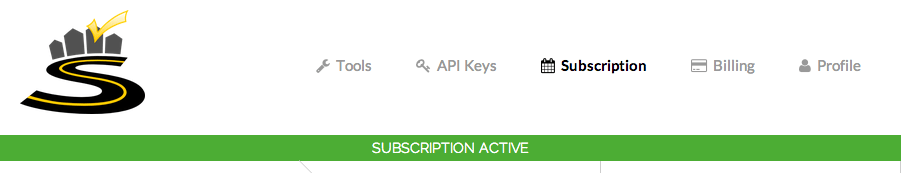 Subscription active