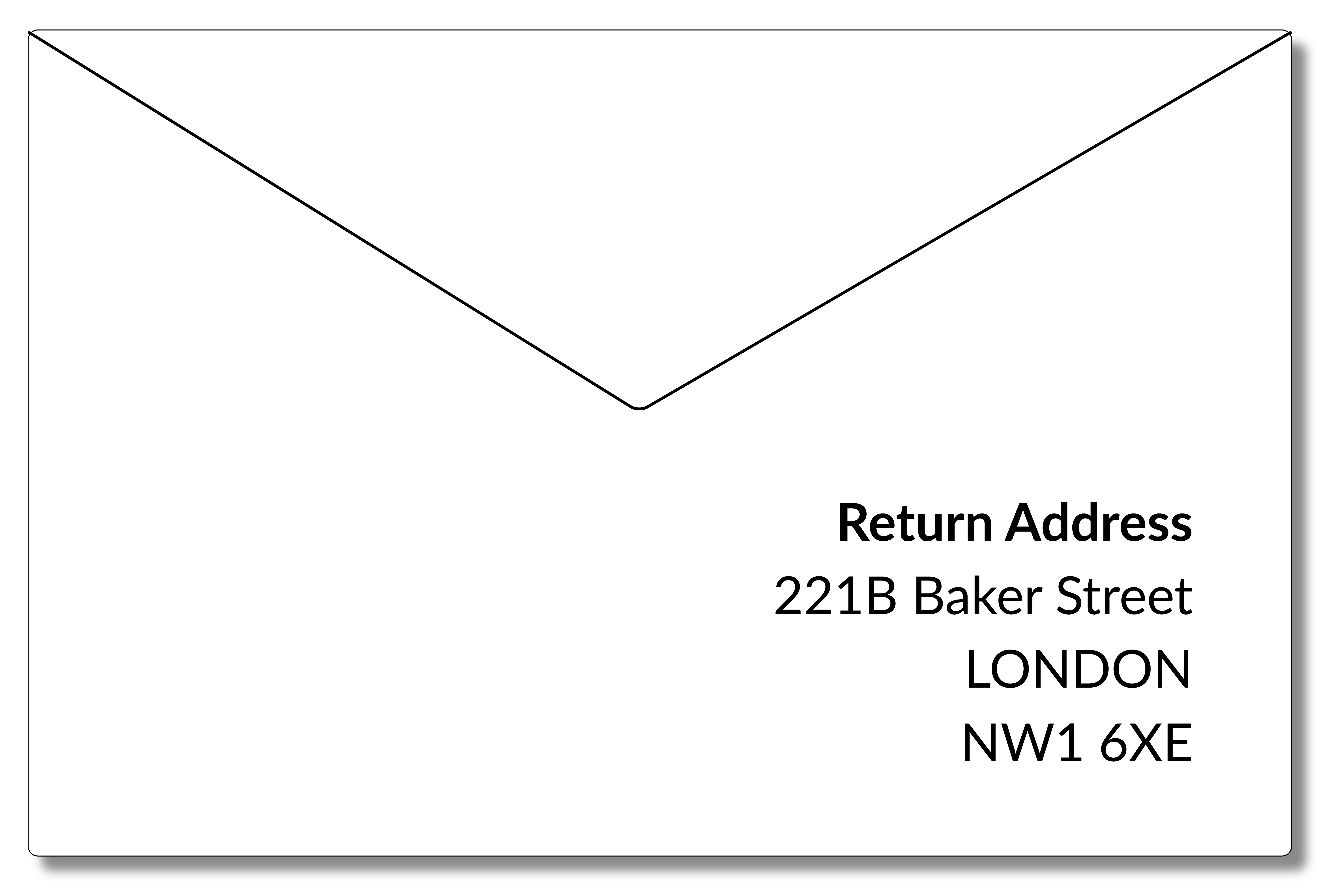 UK Return Address Format