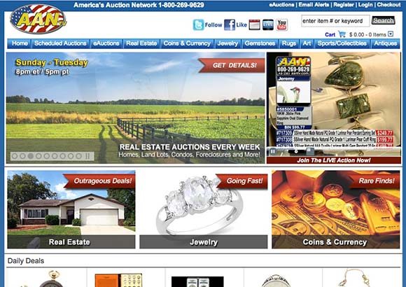 America's Auction Network Home Page