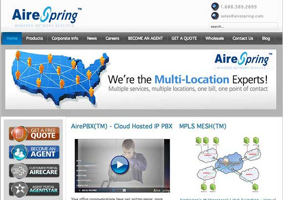 AireSpring Home Page