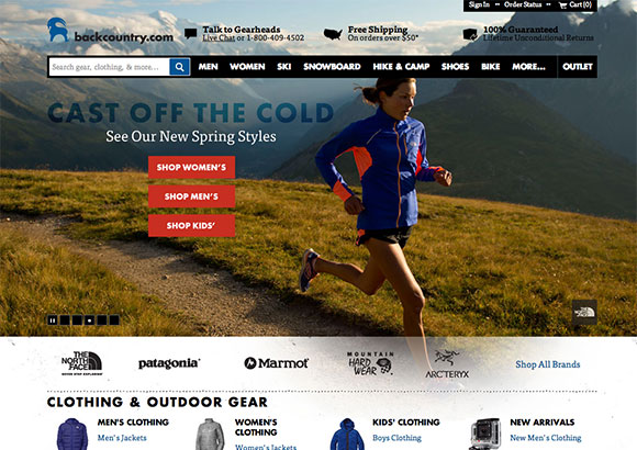 Backcountry Home Page
