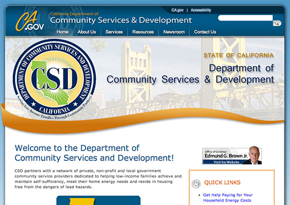 California Dept. of Community Services and Devlopment Home Page