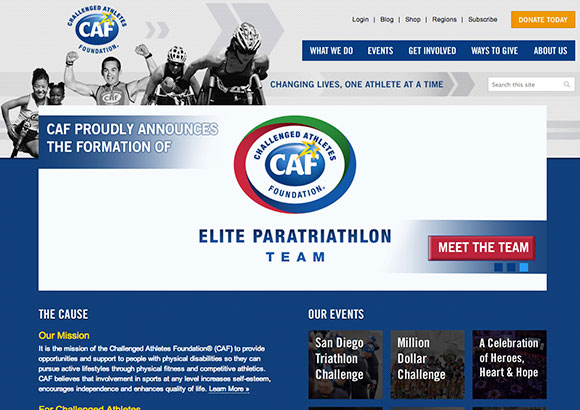 Challenged Athletes Foundation Home Page
