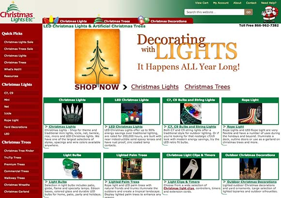 Christmas Lights Etc. Home Page