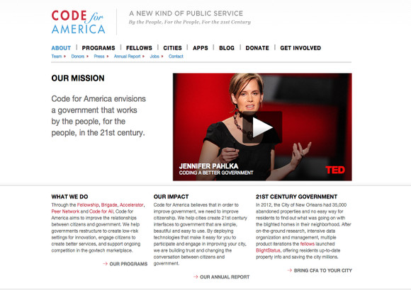 Code for America Home Page