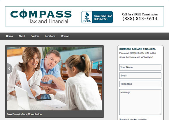 Compass Tax and Financial Home Page