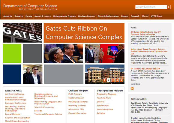 U of Texas at Austin - Computer Science Home Page