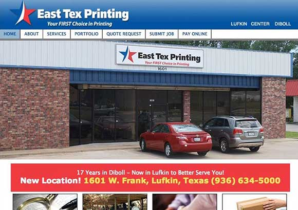 East Tex Printing Home Page