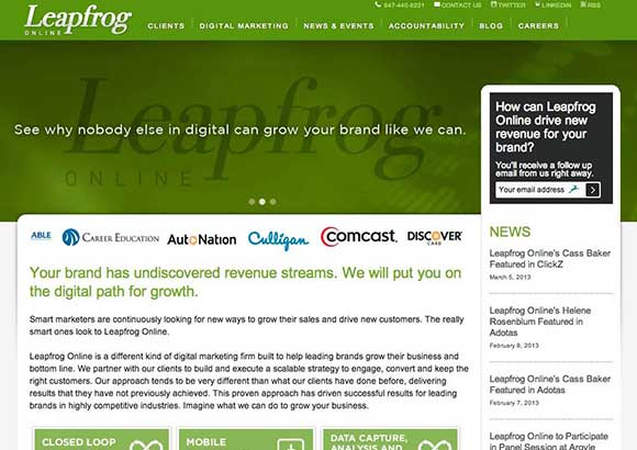 Leapfrog Online Home Page