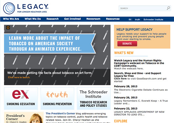 Legacy for Health Home Page