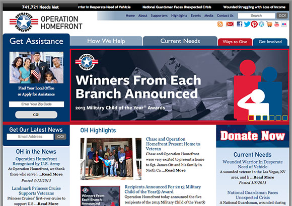 Operation Homefront Home Page