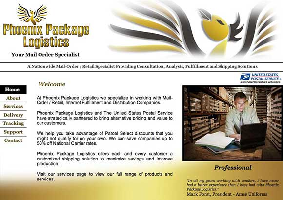 Phoenix Package Logistics Home Page