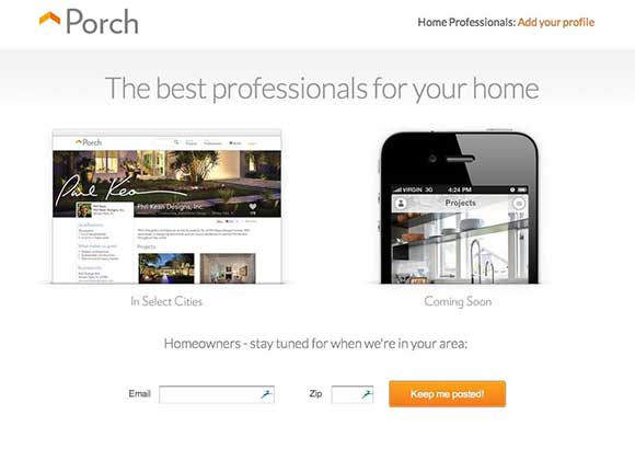 Porch Home Page