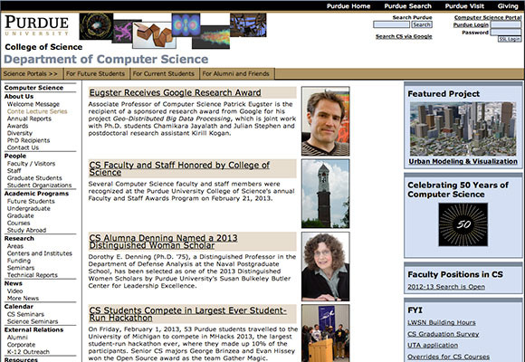 Purdue University | Dept. of Computer Science Home Page