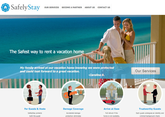 SafelyStay Home Page