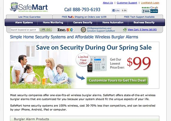 SafeMart Home Page