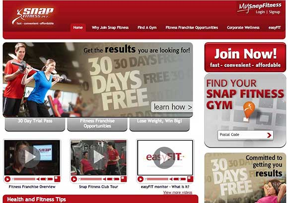 Snap Fitness Home Page
