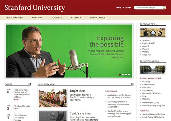 Stanford University Home Page