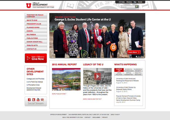 University of Utah Office of Development Home Page