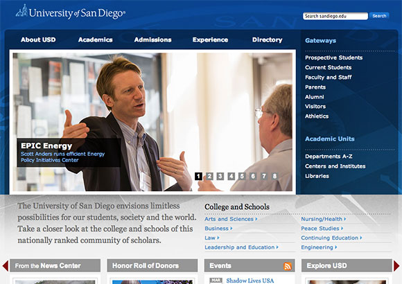 University of San Diego Home Page