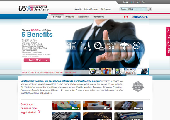 US Bankcard Services Home Page