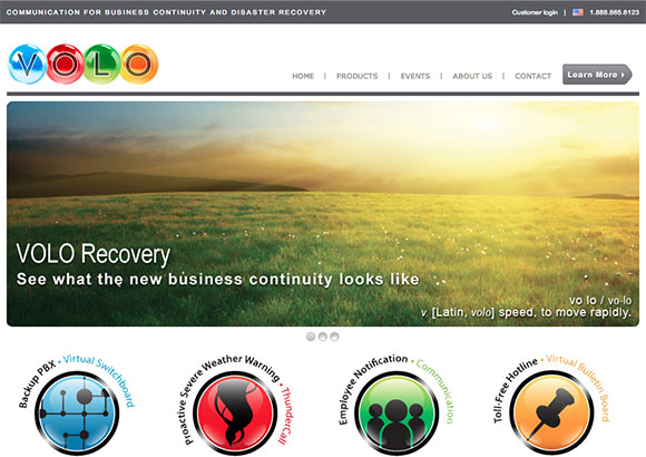 VOLO Recovery Home Page