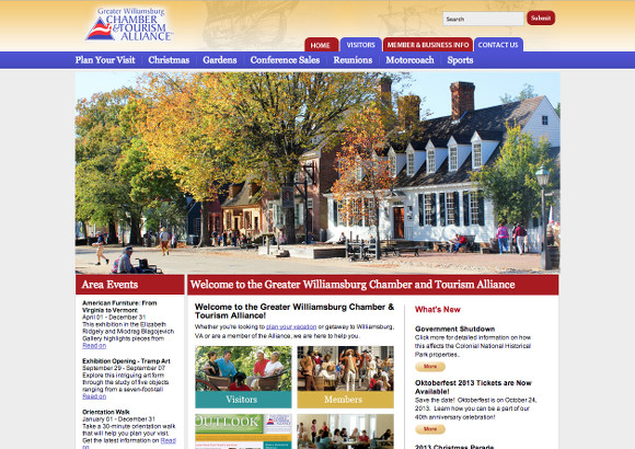 Greater Williamsburg Chamber & Tourism Alliance Home Page
